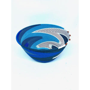 Recycled Telephone Wire Small Bowl - Blues - LaLunaLifestyle