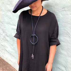 Rubber Long Amulet Necklace