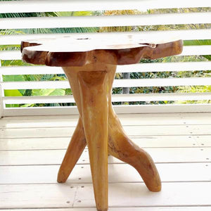 Teak Side Table - LaLunaLifestyle