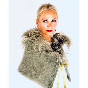 Ostrich Feather Mohair Shrug
