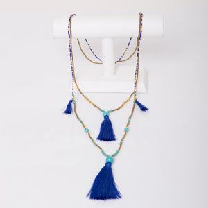 Glass Beaded Necklace - LaLunaLifestyle