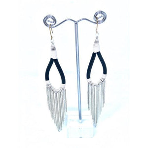 Malawian Fine Chain Earrings - LaLunaLifestyle