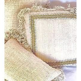 Embellished Linen Cushion Cover (without filler) - LaLunaLifestyle