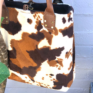 Animal Print Shopper-Computer Bag - LaLunaLifestyle
