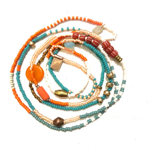 Fine Beaded Necklace with Gemstones