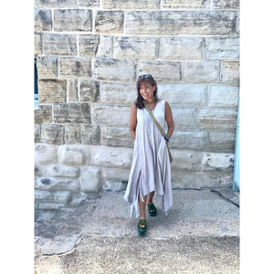 Linen Asymmetrical Dress