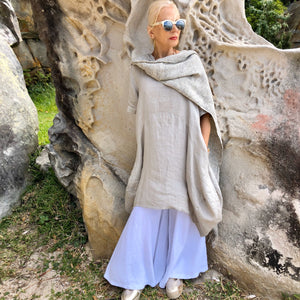 Linen Cocoon Tunic - LaLunaLifestyle