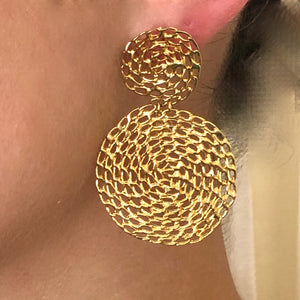 Mesh Gold Earrings