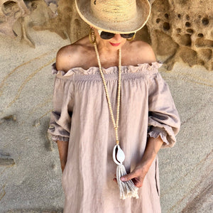 Linen Smock Dress - LaLunaLifestyle