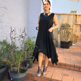 Linen Asymmetrical Dress - LaLunaLifestyle