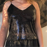 Sequined  Shimmer Camisole - LaLunaLifestyle