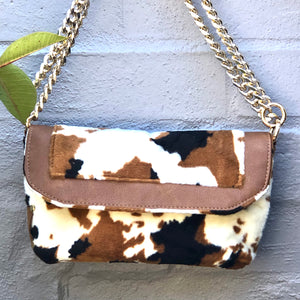 Animal-Print Chain Bag