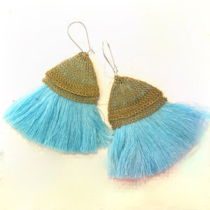 Crochet Mesh Wire with Tassel