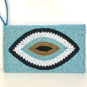 Hand-Beaded Clutch Bag