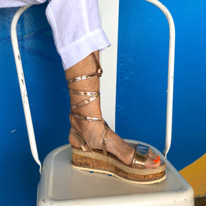 Rose-Gold Espadrille