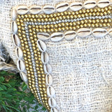 Embellished Linen Cushion Cover
