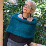 Angora Mohair Tube Collar