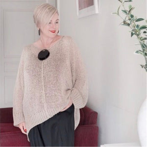 Cotton Knit Sweater with Classic Comfort - LaLunaLifestyle
