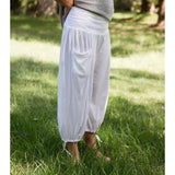 Pleated Crop Pants - LaLunaLifestyle