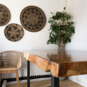 Suar Wood Dining-table - LaLunaLifestyle