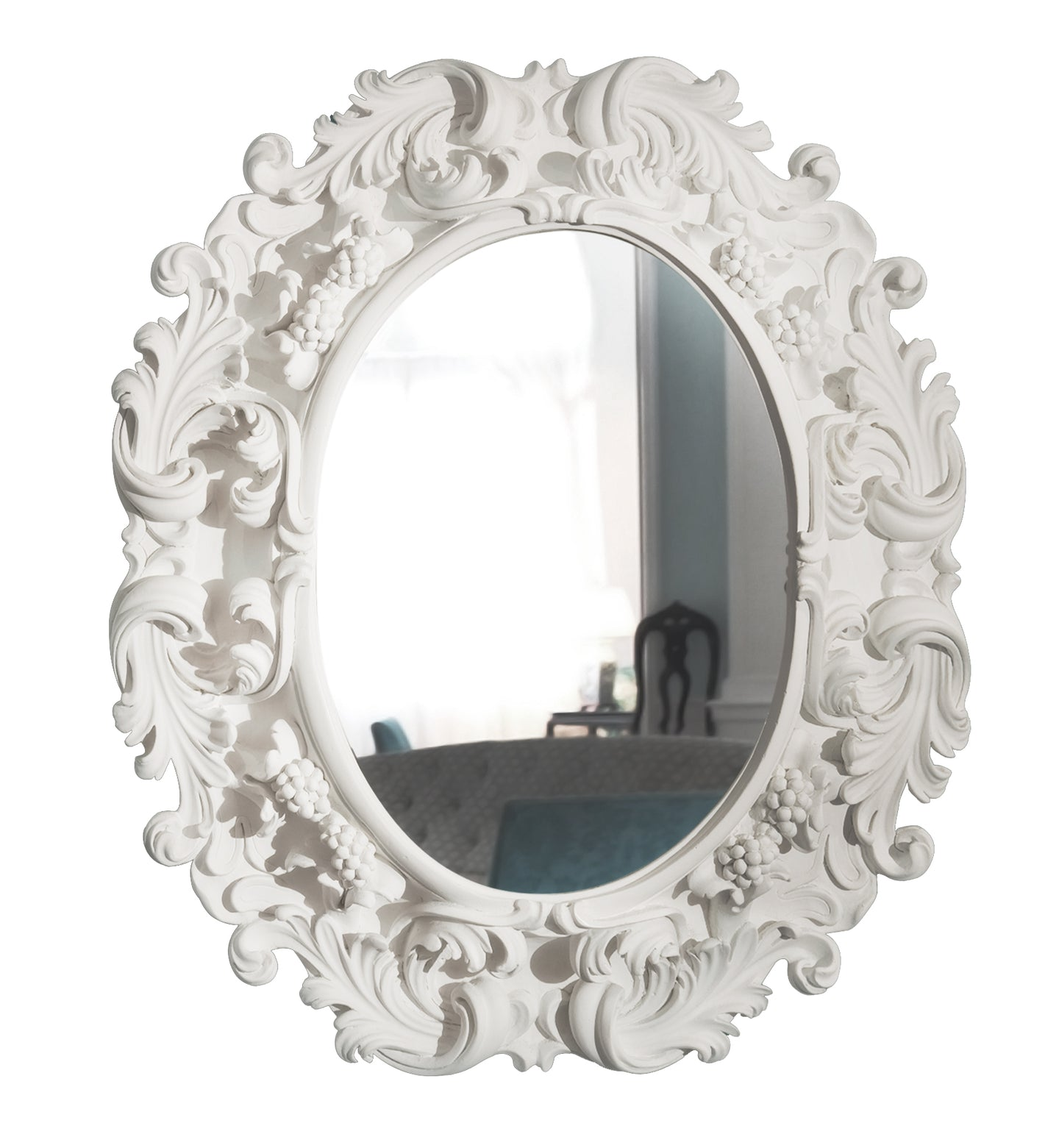 Lorraine with Grapes Oval Mirror