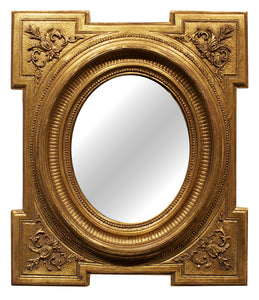 Small Federal Key Corner Mirror (Oval)