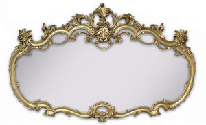19th Century French Louis XV Mantle Mirror