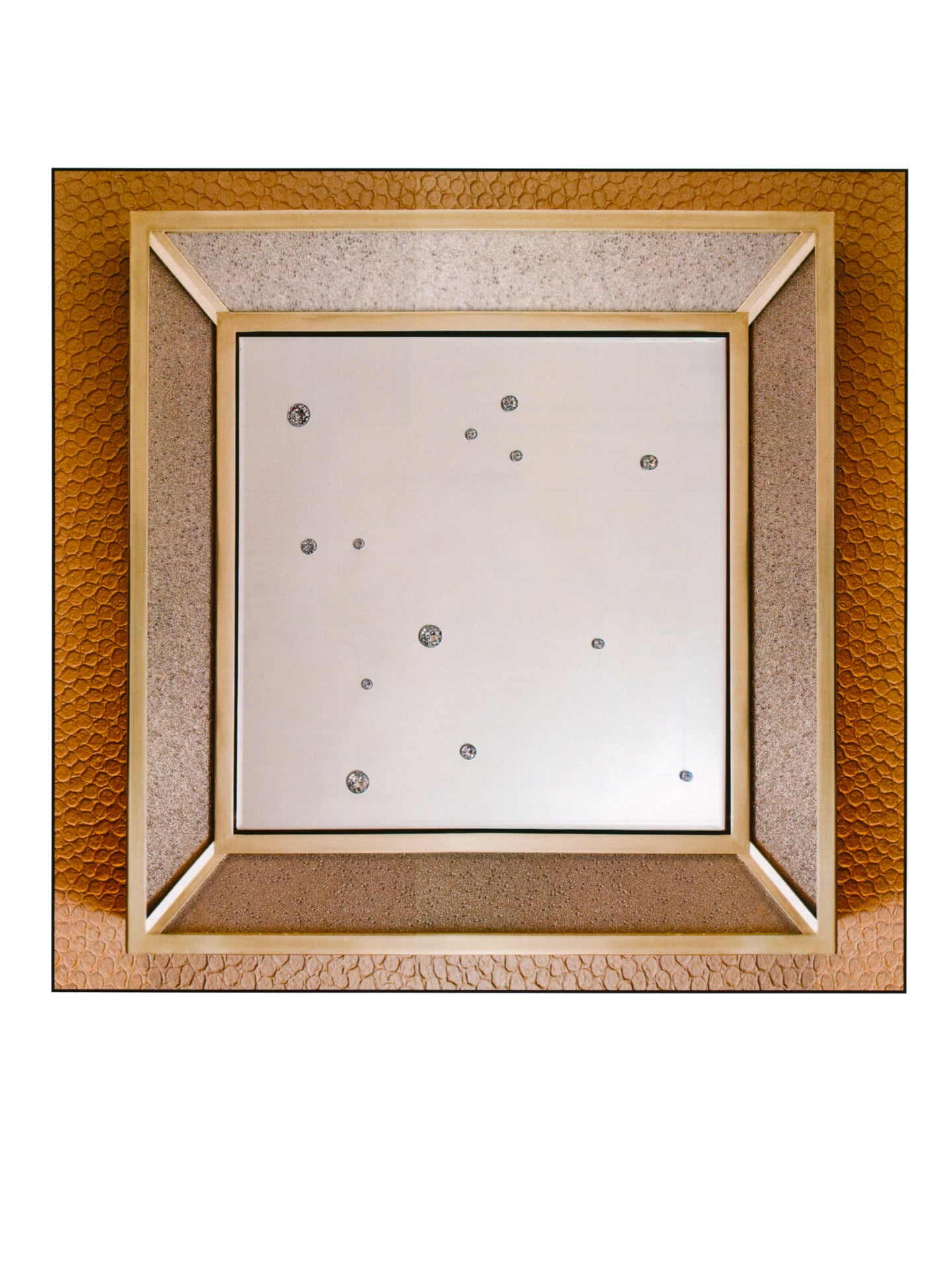 Luna Mirror with Embedded Swarvoski Crystals