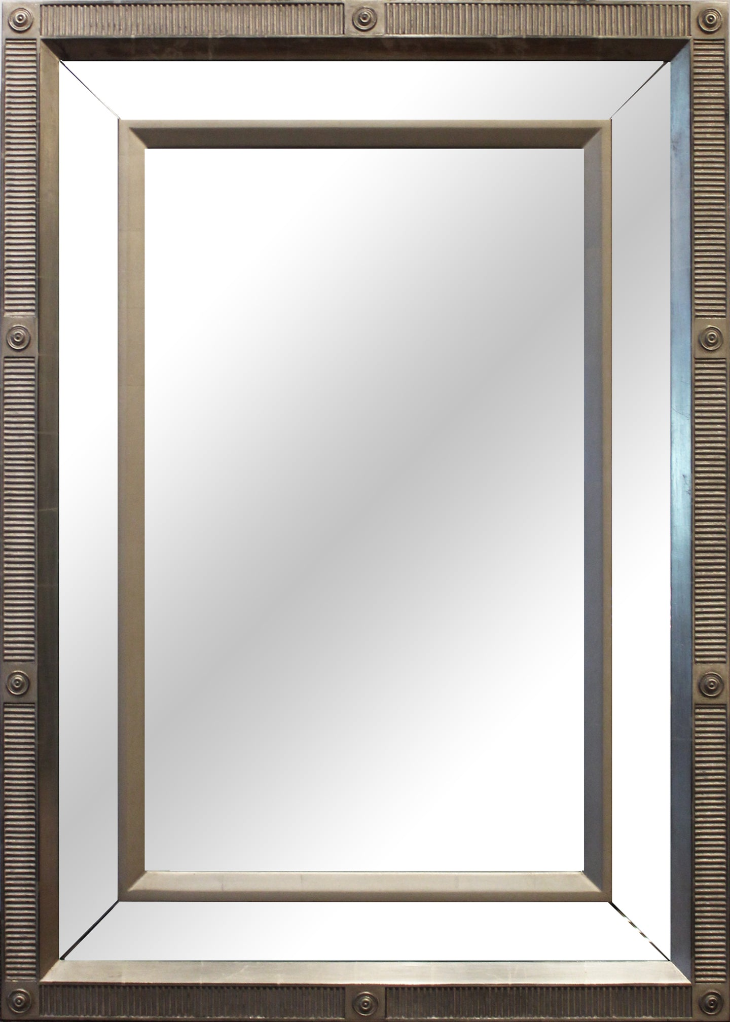Rectangular Ribbed Mirror