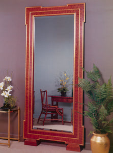 "Contemporary 7"" wide Mirror with Key corners with Veneer panels"
