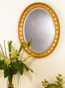 Bee and Wreath Federal Oval Mirror