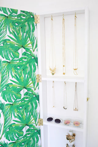 DIY Jewelry Storage Organizer on the Laura James Jewelry Blog