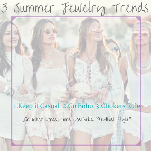 Three Must Have Summer Jewelry Trends for 2016