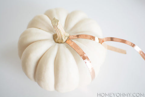 Metal Pumpkin DIY Tutorial on the Laura James Jewelry Blog
