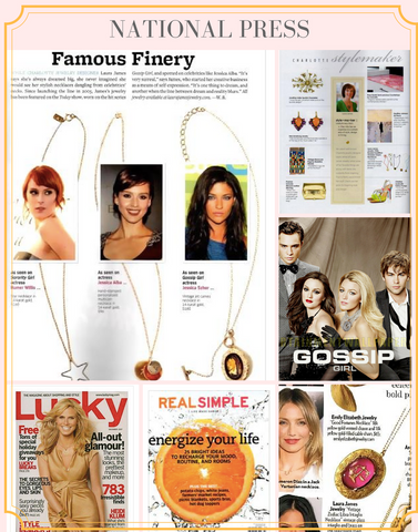Laura James Jewelry Press and Celebrities