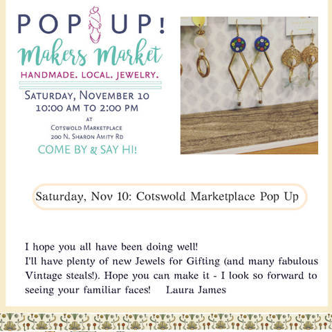 Laura James Jewelry Pop Up Makers Jewelry Shopping at Cotswold Marketplace