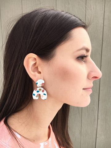 Terrazzo Earrings Etsy