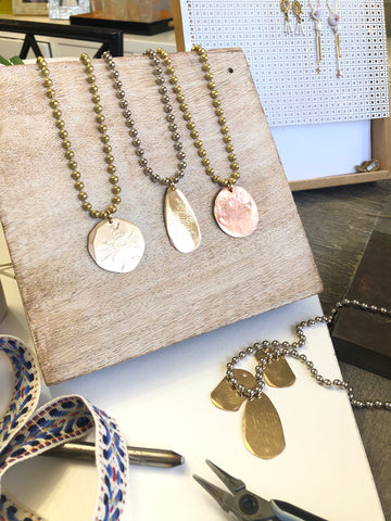 Embossed Ball Chain Pendant Necklaces I Bee Necklace I Bird Necklace I Wing Necklace I Laura James Jewelry