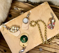 Laura James Vintage Charms for Necklaces. One of a Kind charms. Estate and Antique Charms with lobster clasps.