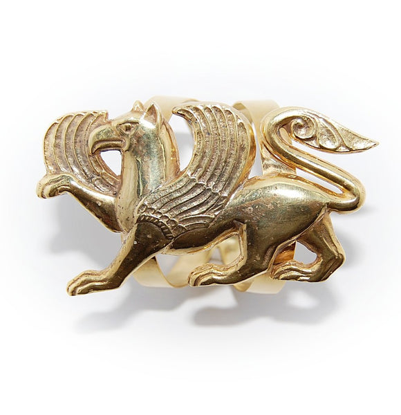 Gryphon Gold Cuff Bracelet by Sopho Gongliashvili on the Laura James Jewelry Blog
