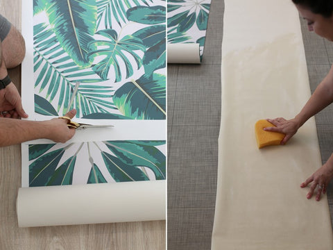 DIY Wallpaper Installation from Lovely Indeed on the Laura James Jewelry blog