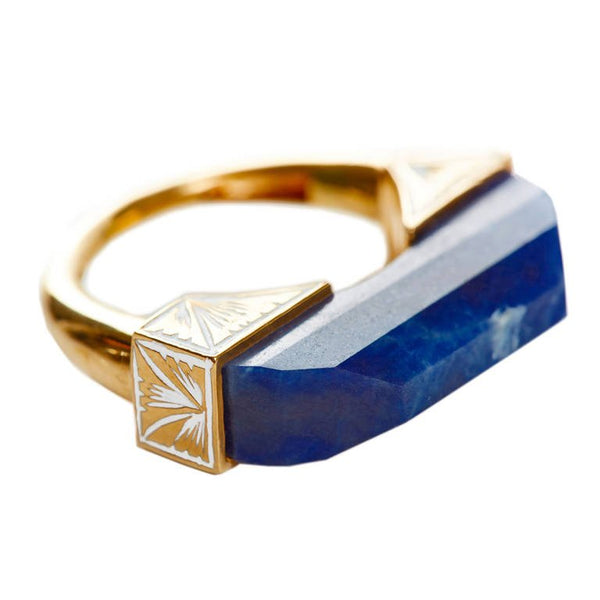 Jade Jagger Carved Sapphire Ring