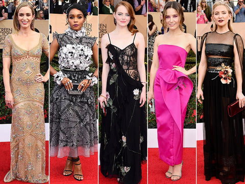 Floral trend at 2017 Sag Awards last night
