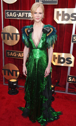 Nicole Kidman Parrot Dress at the Sag Awards