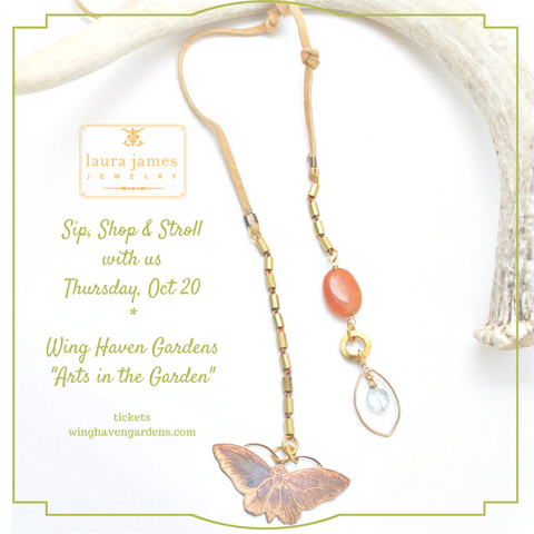 Wing Haven Gardens Event featuring Laura James Jewelry on October 20