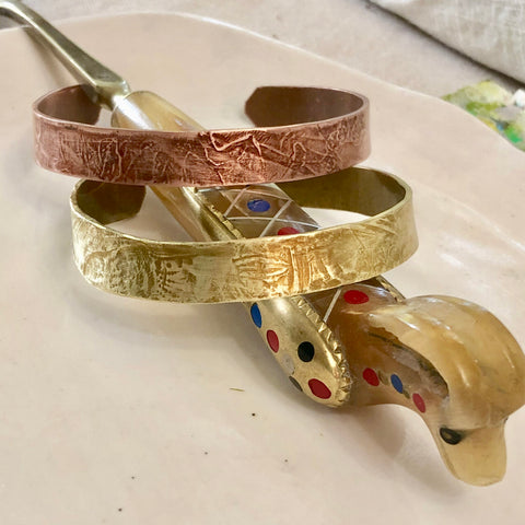 Handmade Ancient Brass Cuff Bracelet | Laura James Jewelry