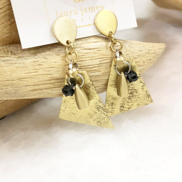 Gold Geometric Earrings | Sculptural Earrings | Laura James Jewelry
