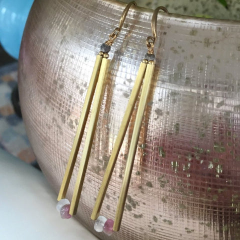 Gold Dust Drop Earrings