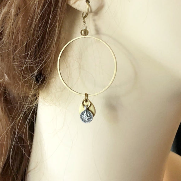 Gold Hoop Earrings | Mixed Metal Earrings | Laura James Jewelry