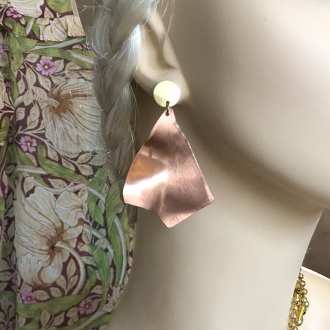 Rose Gold Statement Earrings